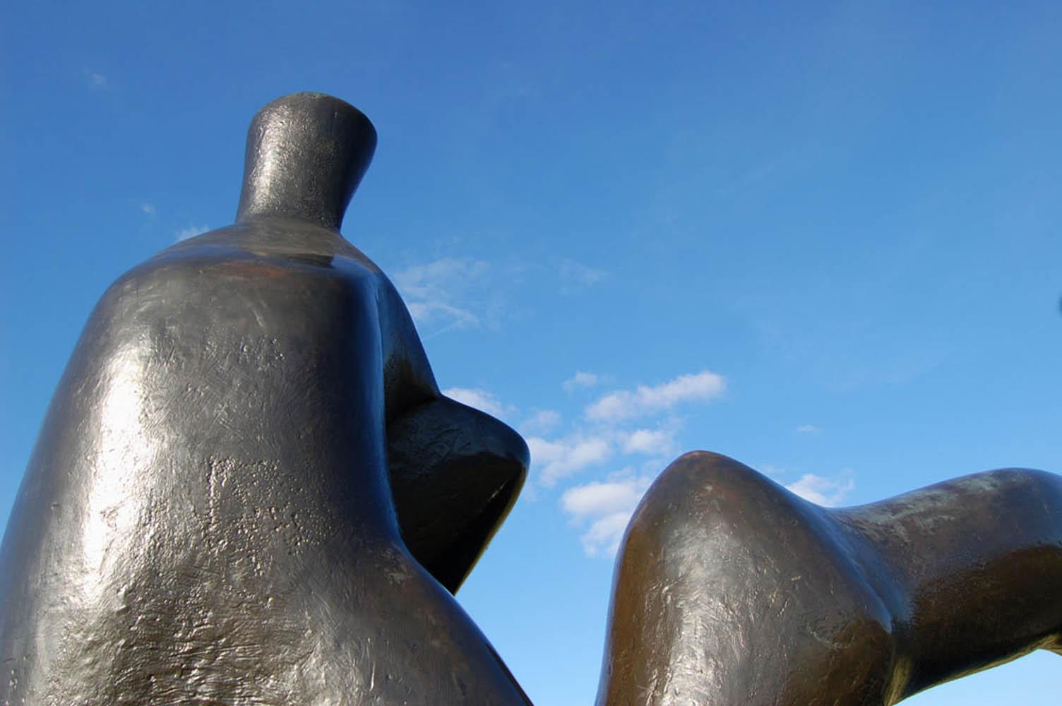 Henry Moore bronze outdoor sculpture